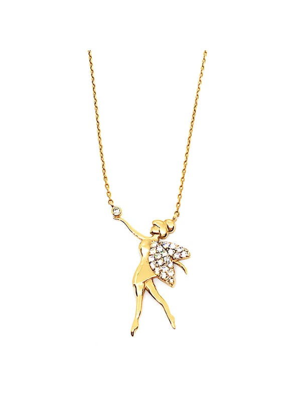 14ct Gold Angel Necklace