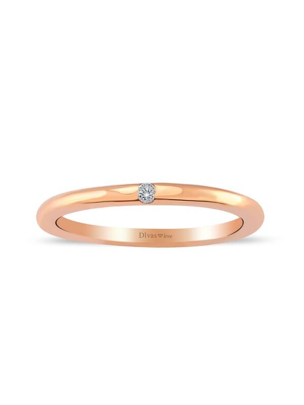 0,03 Carat Diamond Vintage Ring