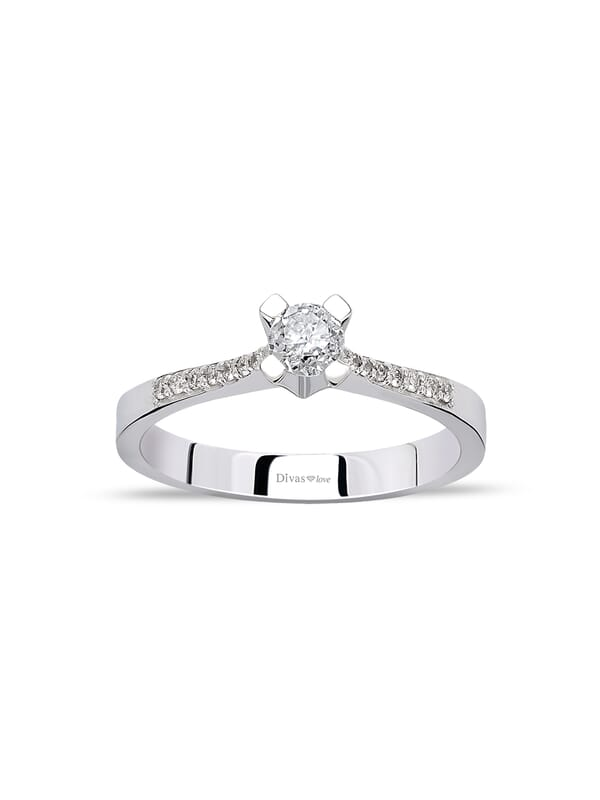 14ct White Gold 0.30ct Diamond Solitaire Ring