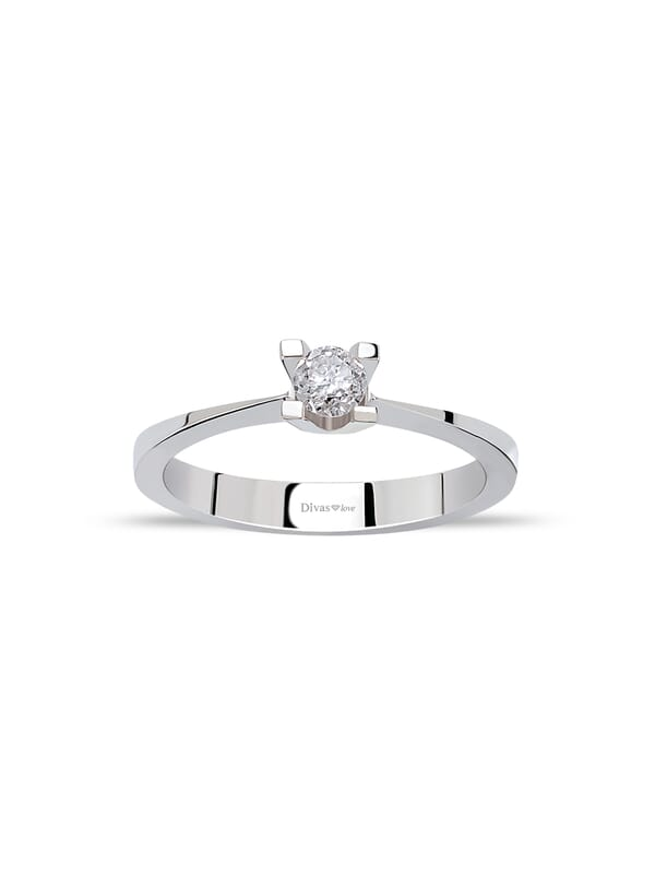8ct White Gold 0.10ct Diamond Solitaire Ring
