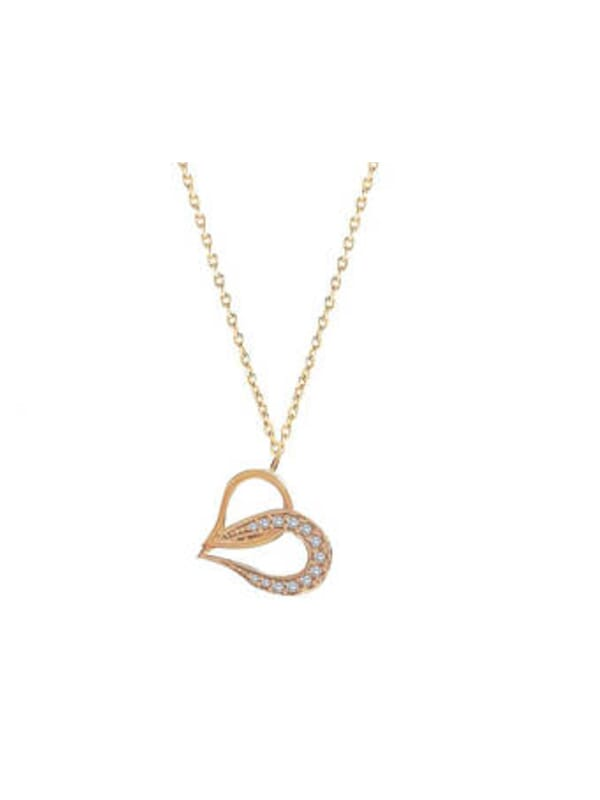 14 ct Gold Hearth Necklace
