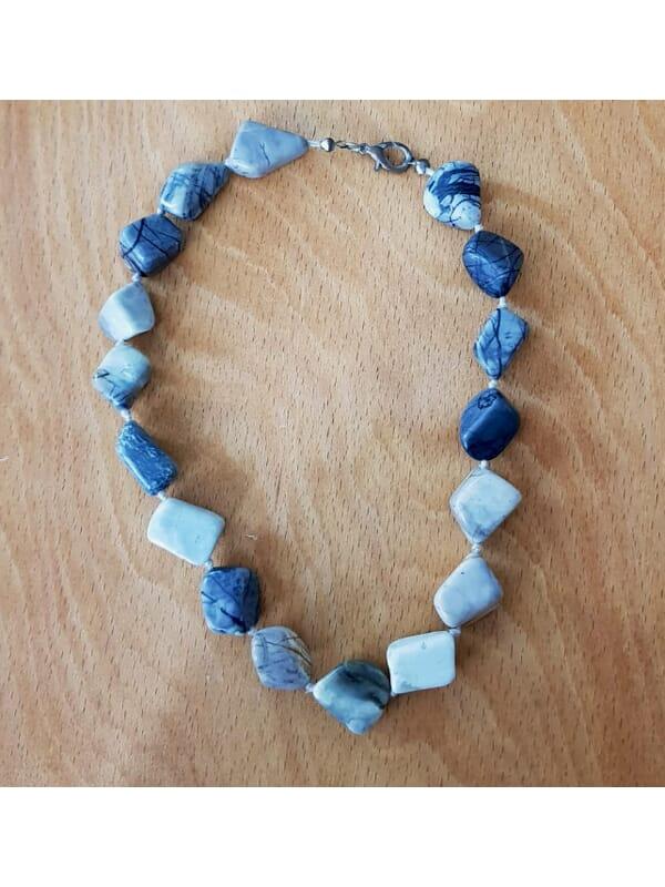 Blue Natural Stone Vintage Necklace